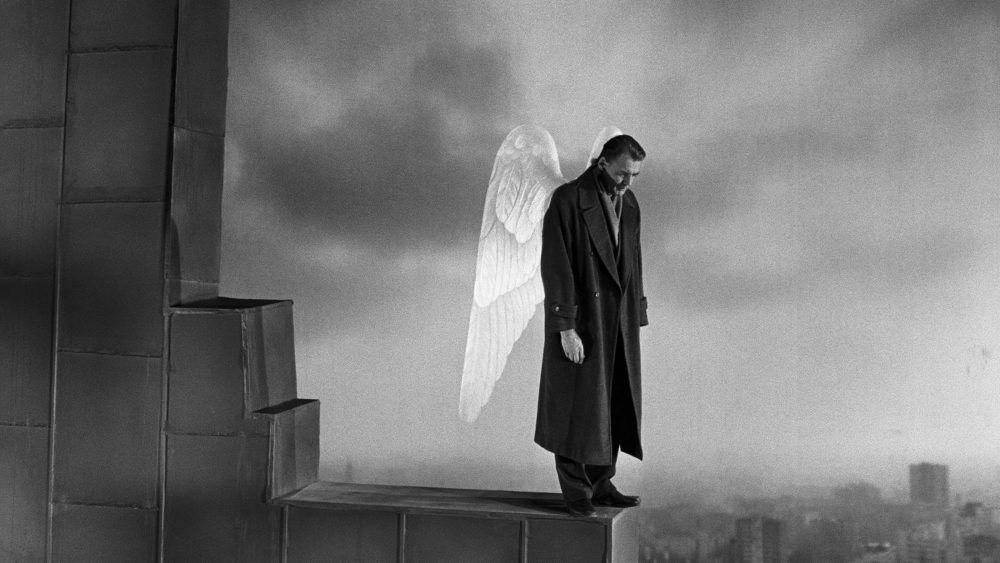 """Bruno Ganz """"familier à chacun, suspect à personne"""" / Les Ailes du Désir, 1987"""