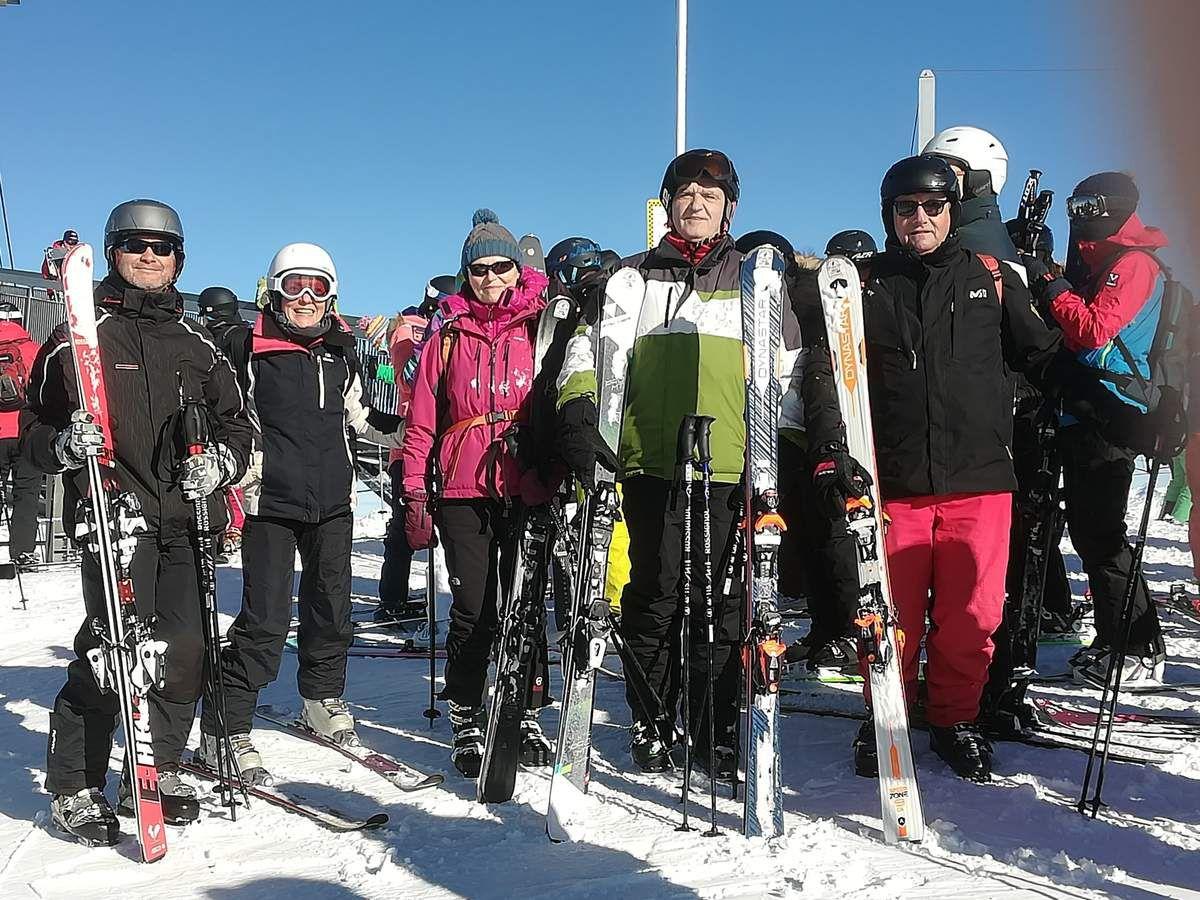 Quelques skieurs du groupe TCMS