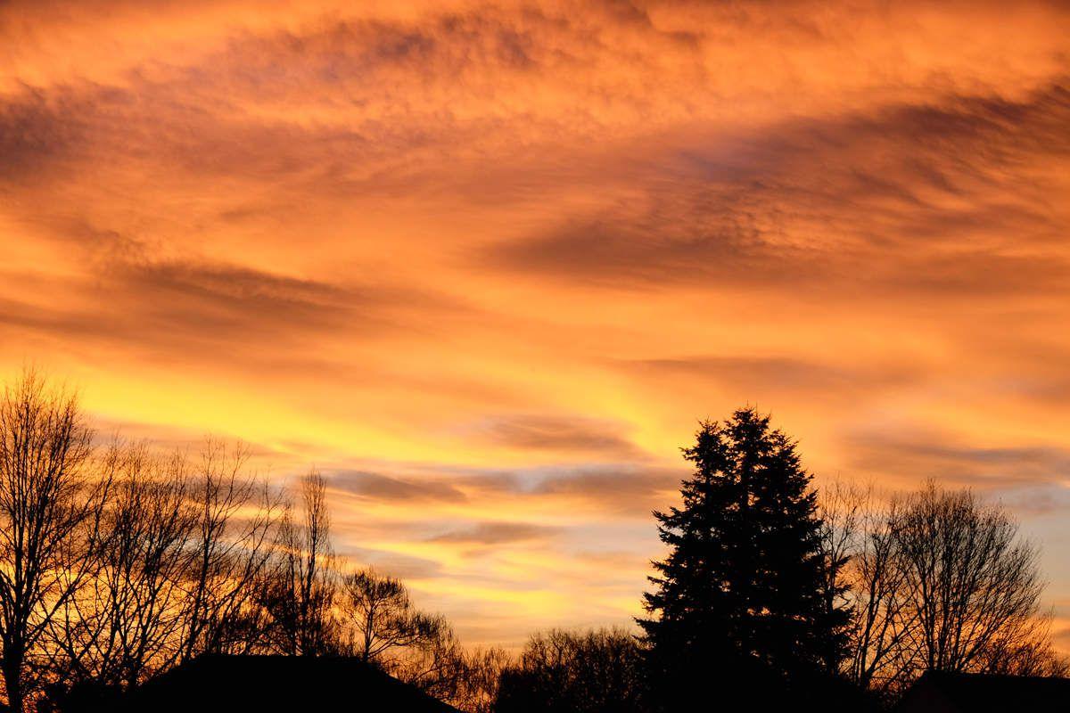 Ciel d'hiver à Rilhac Rancon