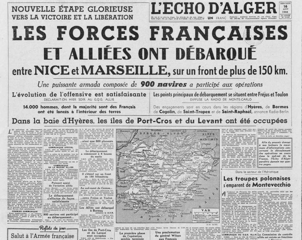 L'Echo d'Alger - n° du 16 août 1944