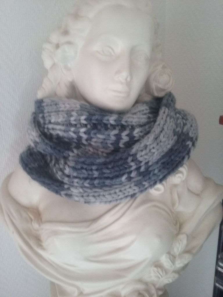 Snood en côte 2 x2