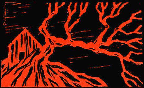 Di a  ese  parado / es  parado  día : Arbres rouges / écarlate couché