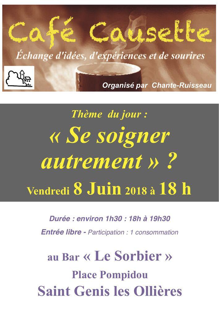 Café Causette - Vendredi 8 Juin à 18h au Café Le Sorbier