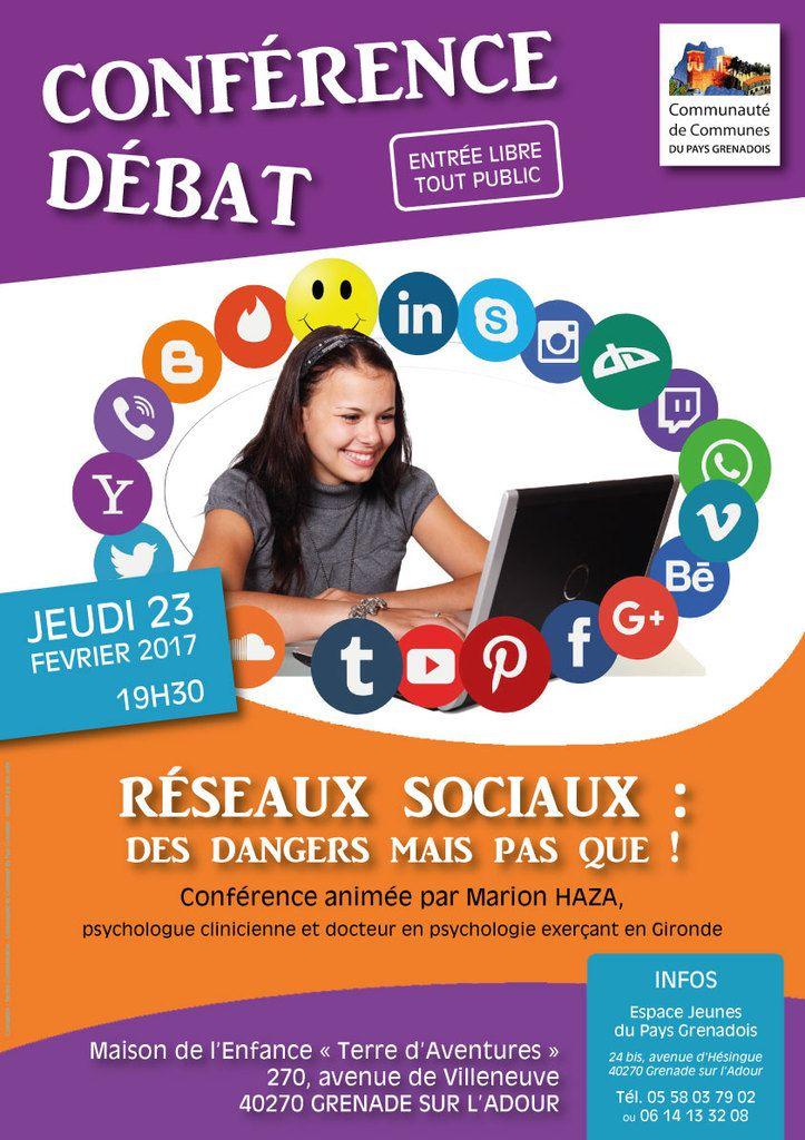 Conférence Réseaux Sociaux 23 Février 2017