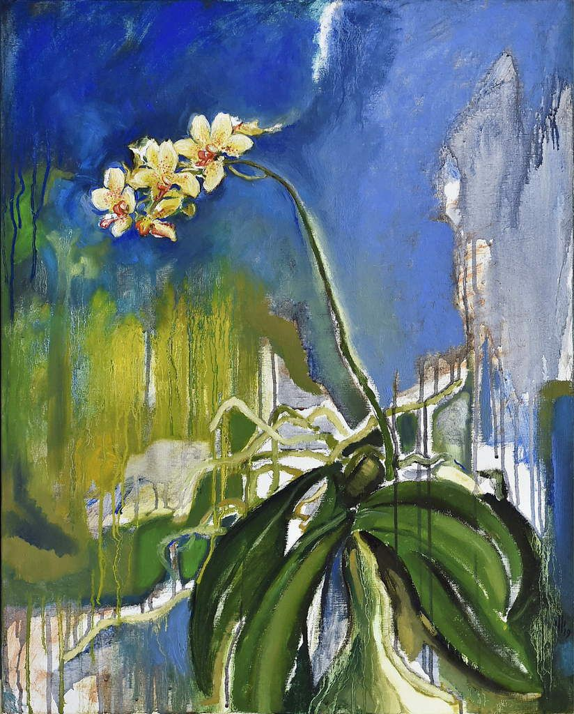 buffard pascal tableau orchidée - orchid painting