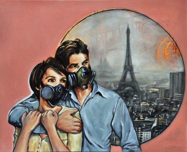 pascal buffard artiste peintre la vie en rose pollution Paris