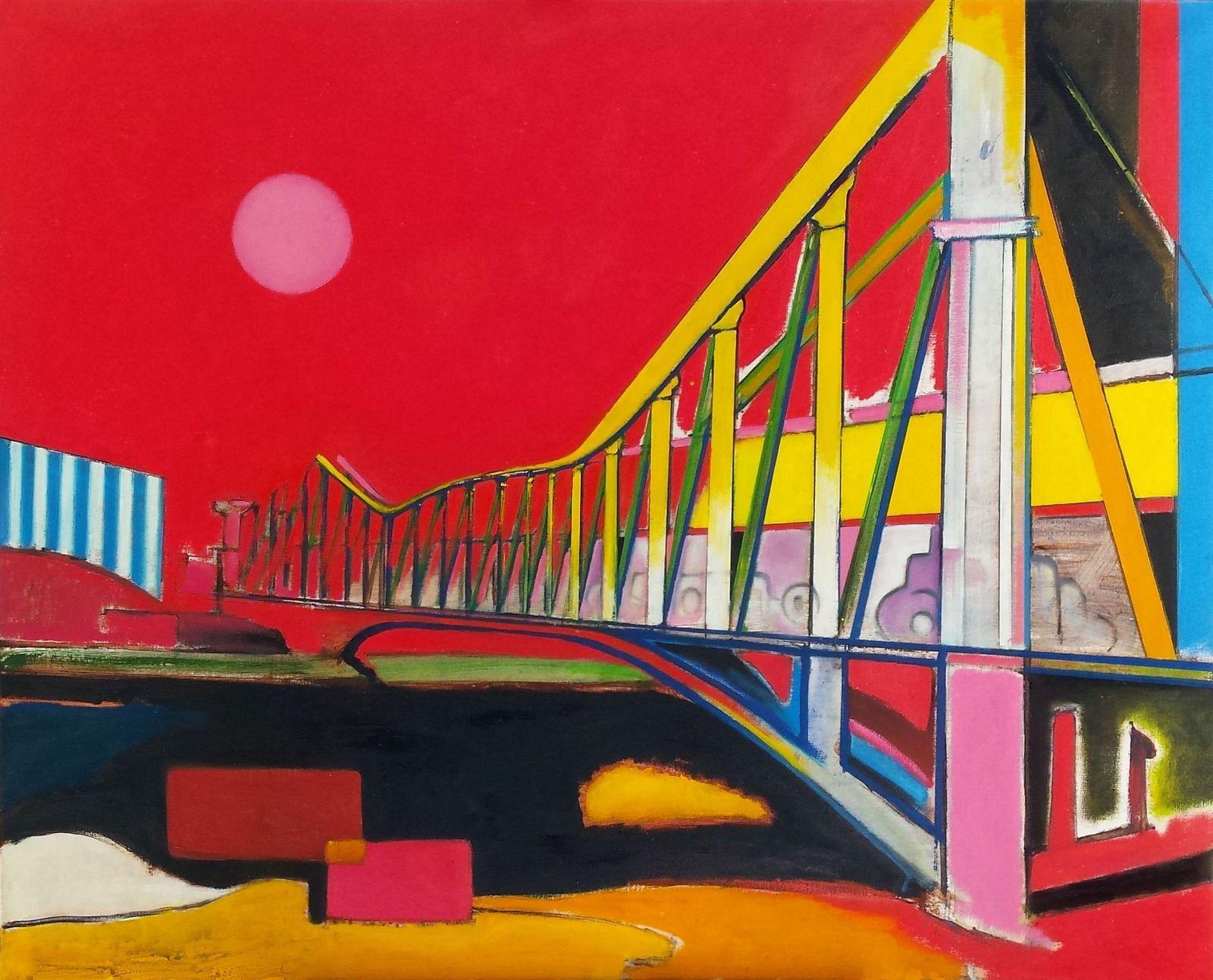 pascal buffard peintre, painting lac daumesnil bois de vincennes, Charenton pont aux cables Ivry