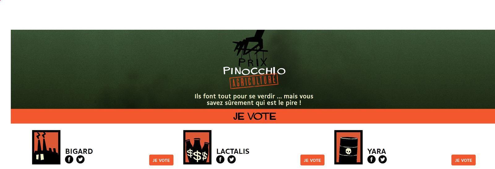 Prix Pinocchio ! Votez pour dénoncer le greenwashing des multinationales.