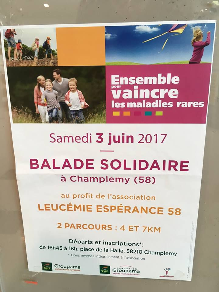 Balade solidaire à Champlemy