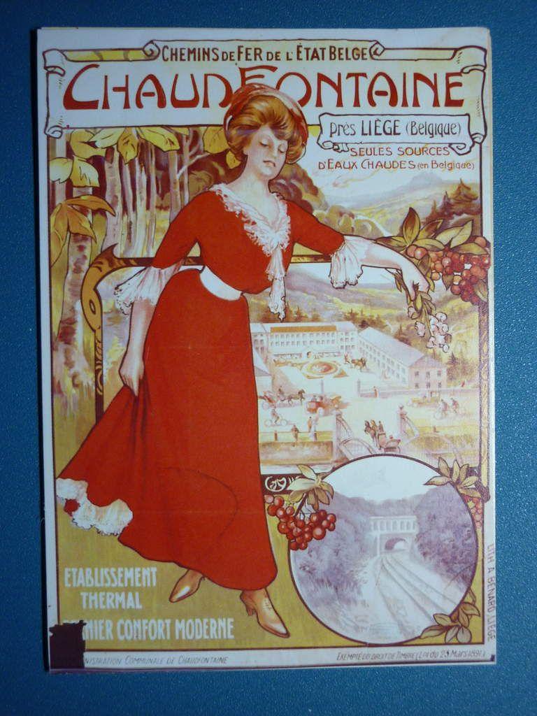 34. 1909 - Chemins de Fer de l'Etat Belge - Chaudfontaine Etablissement thermal