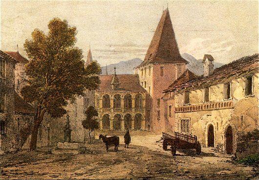 Les origines du château, la Maison de la Cour