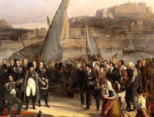 Napoléon fait ses adieux à l'ìle d'Elbe