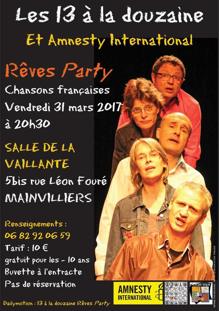 """Mainvilliers (Chartres), 31 mars, """"Rêves Party"""""""
