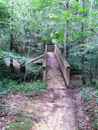 Hopital-Saint-Blaise : chemin et pont forestier.