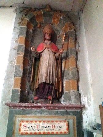 Boissy-sous-Saint-Yon : statue de Thomas Becket.