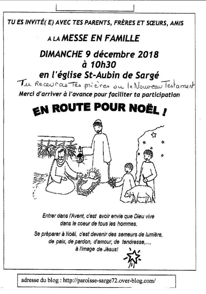 """MESSE """"DIMANCHE AUTREMENT"""" 9 decembre 2018"""