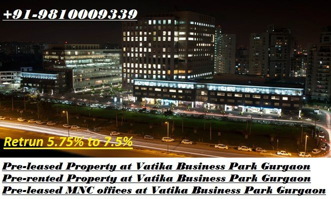 pre-leased property for sale at Vatika