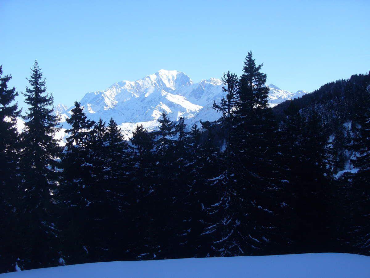 Le Mont Blanc comme je n'ai pas trop souvent l'habitude de le voir