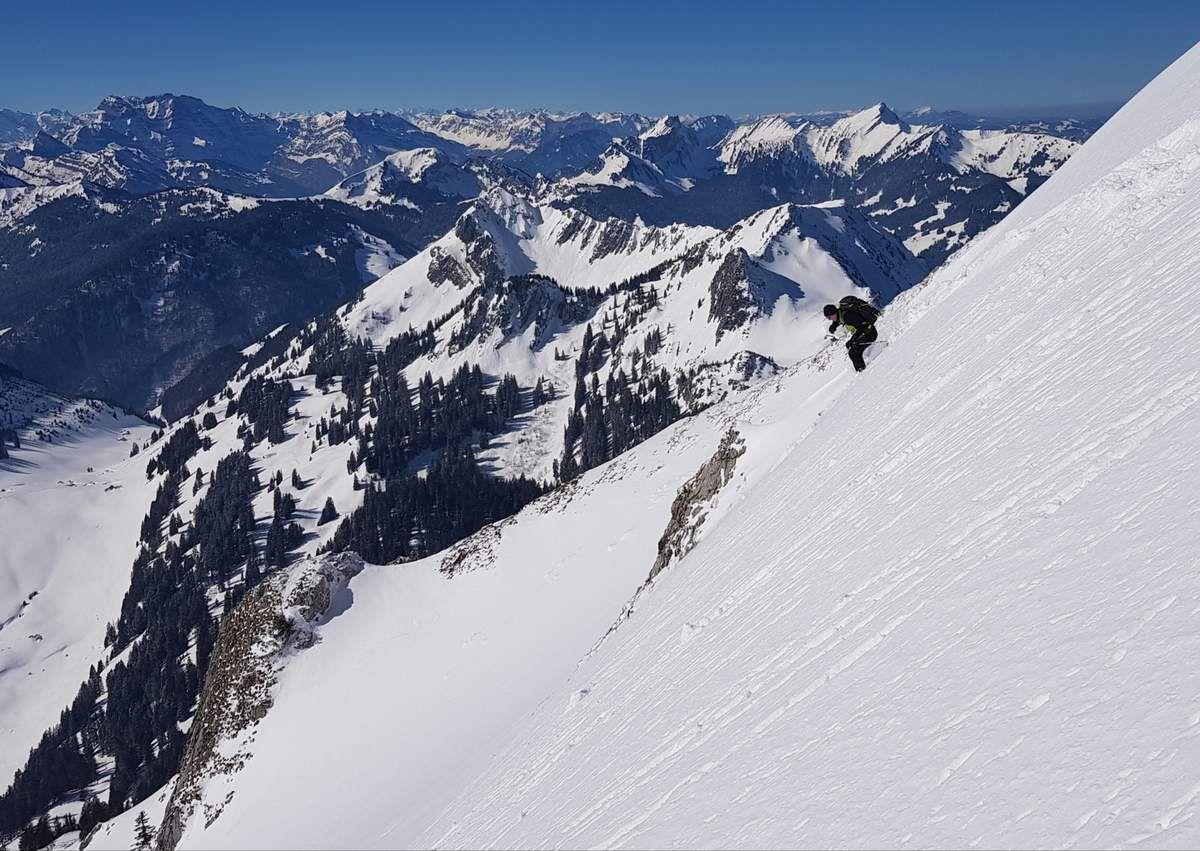Ranco dans la face sud du Lütispitz