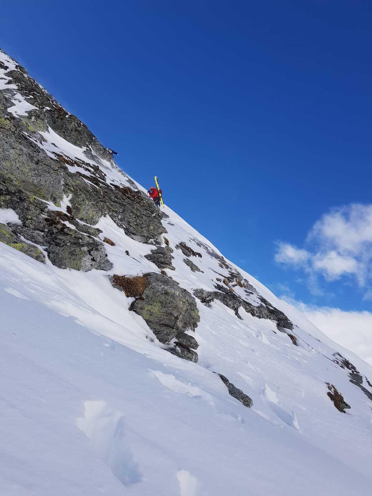 Susanne et Diego a la descente du 1er sommet