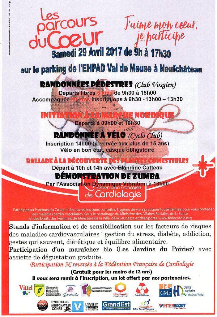 """Une demande de Damien pour encadrer les participants lors des """"Parcours du Cœur""""... RDV le 29 Avril pour un départ à 14h15 ."""