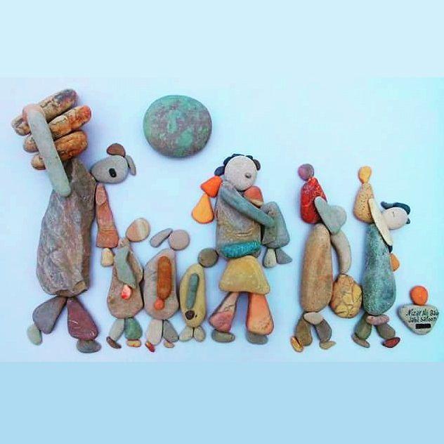 compositions de pierres du mont Saoon en Syrie par le fabuleux sculpteur Nizar Ali BADR
