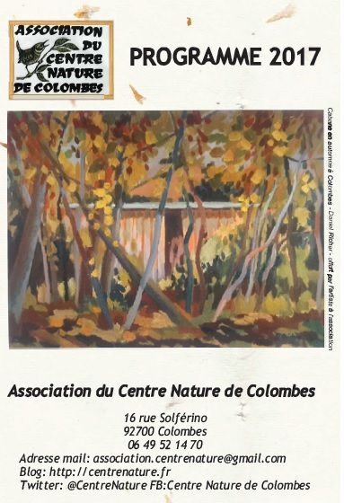 Programmation 2017 de l'Association du Centre Nature de Colombes