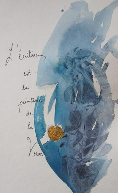Calligraphie et aquarelle