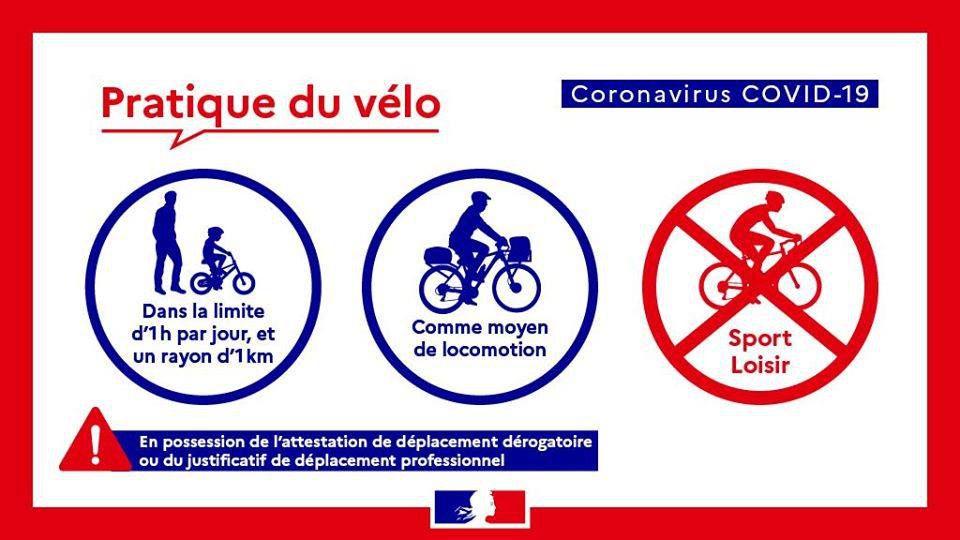 Oui, on peut utiliser son  vélo pendant le temps de confinement...
