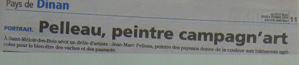 Saint Méloir des Bois: nouvelle fresque à la ferme..