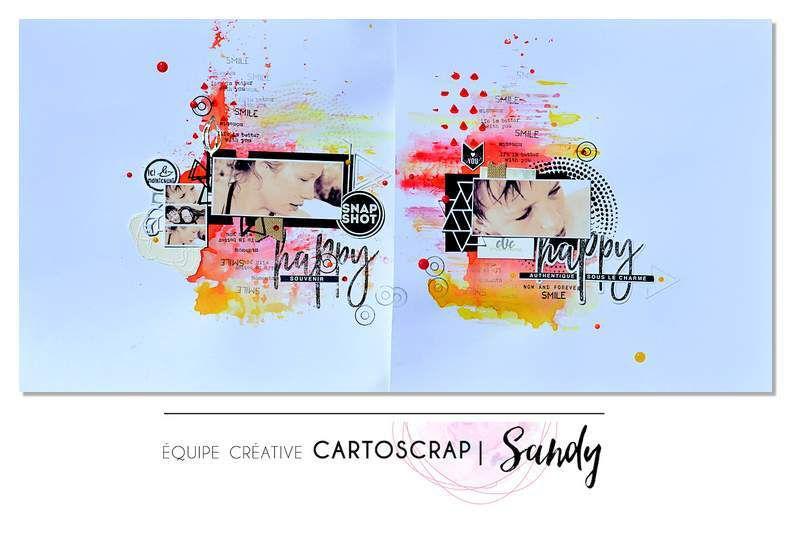 Double page colorée pour CartosSrap