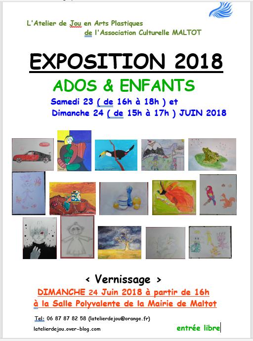 EXPOSITION 2018 ( Ados & Enfants ) à Maltot