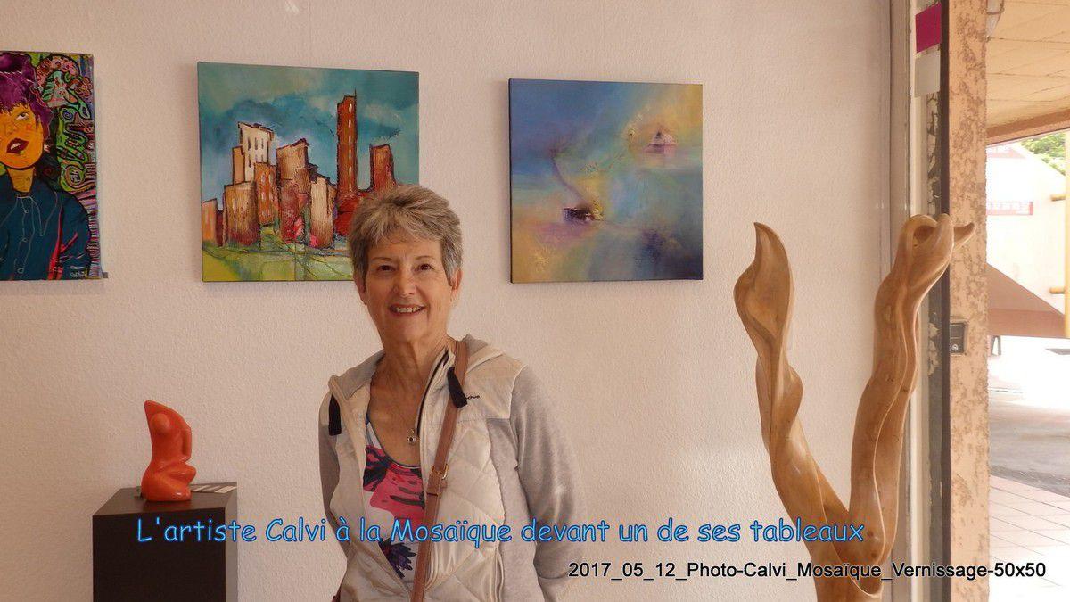La Mosaïque : vernissage de l'expo + quelques tableaux de CALVI en 50 x 50