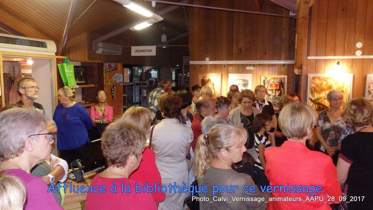 Vernissage de l'exposition le jeudi 28 septembre 2017
