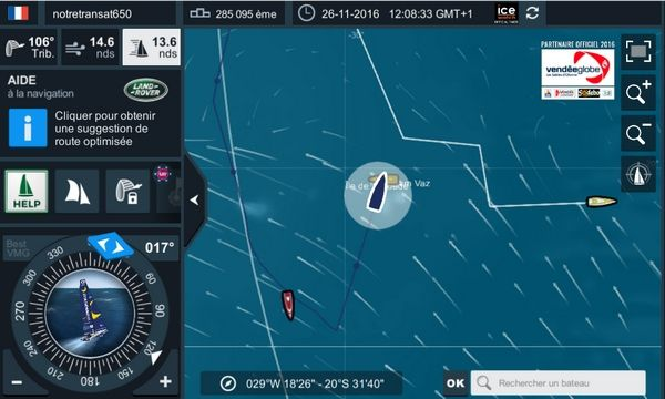 "Journal de bord schizophrénique d'un abandon virtuel pendant le Vendée Globe 2016 à bord de ""notretransat650"""