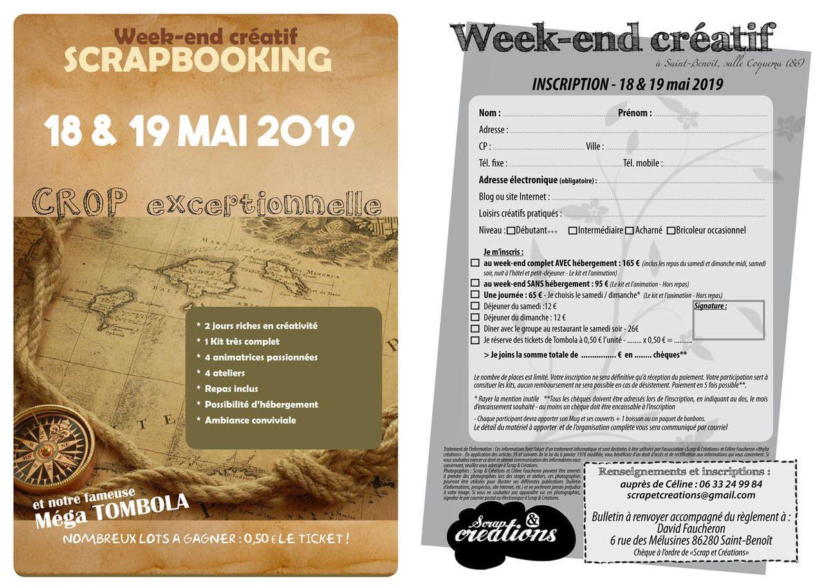 Week-end créatif de Saint-Benoît - Edition 2019
