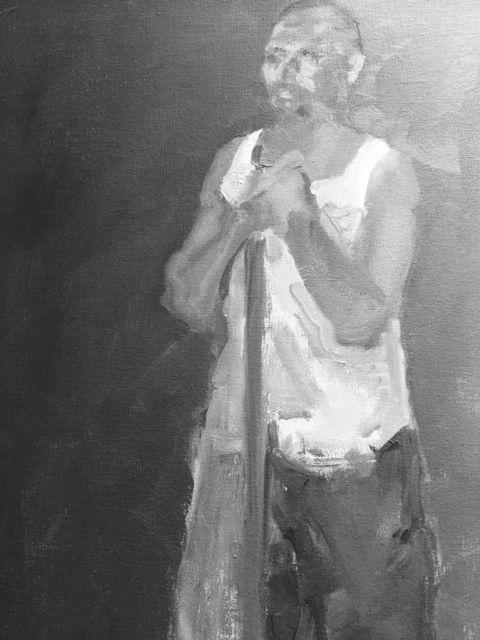 Je me suis amusée à photographier certaines œuvres en noir et blanc! Marie