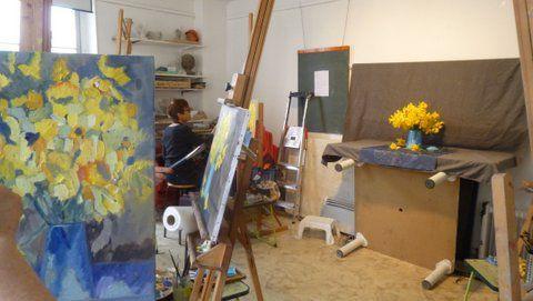 Cours de peinture du vendredi matin.