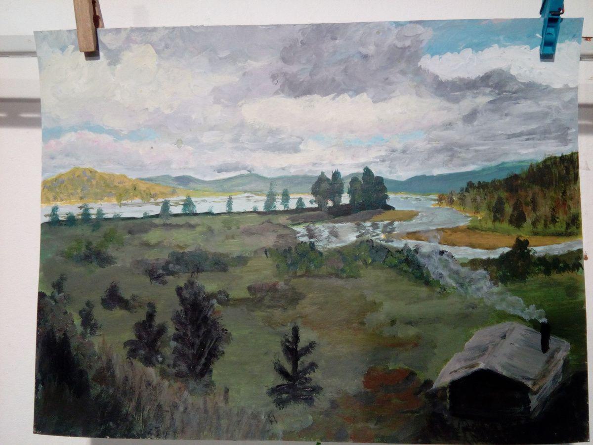 Cours de peinture acrylique des jeudis après-midi et vendredis soirs.
