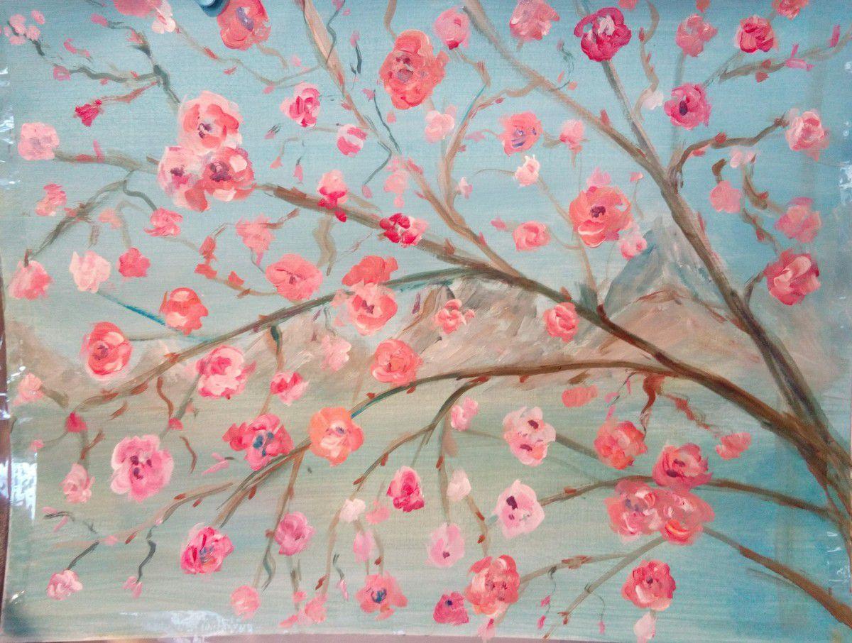 Travaux tous niveaux confondus des cours de peinture acrylique de Fabienne du jeudi et du vendredi!