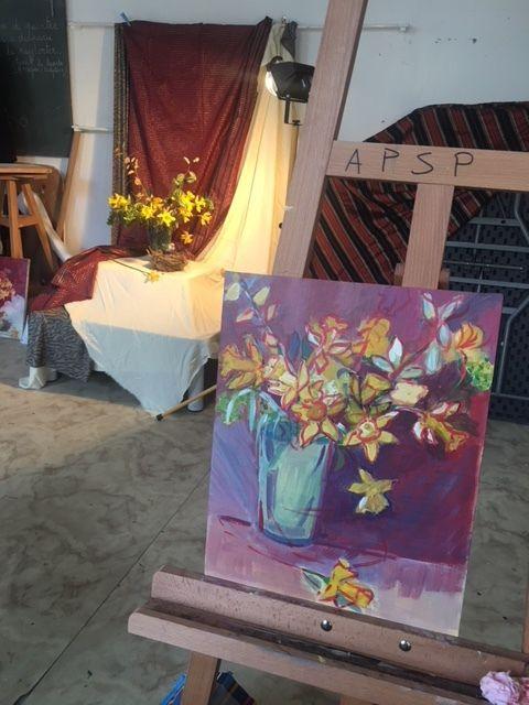 Atelier peinture du lundi après midi.