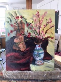 Atelier peinture du vendredi.