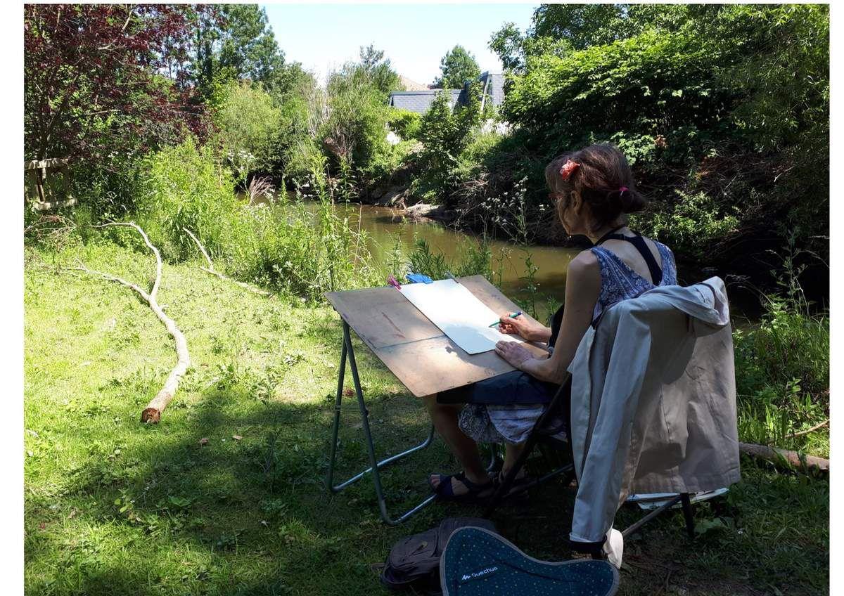 Cours peinture acrylique de Fabienne