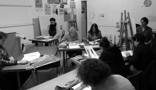 L'atelier dessin et le grand couturier Paul Poiret
