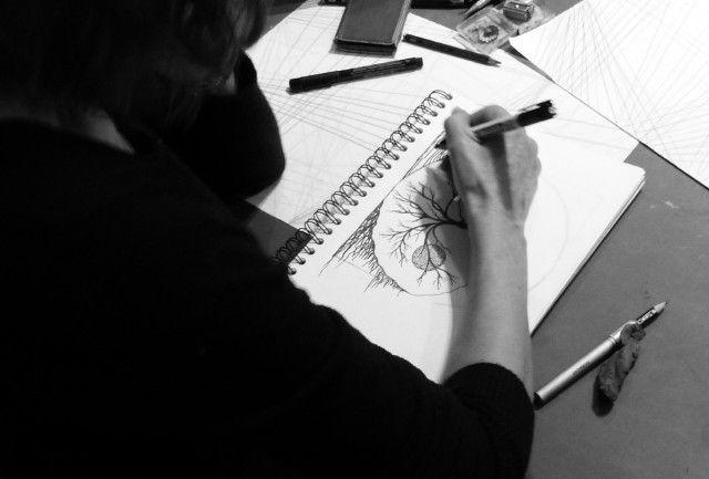 L'atelier dessin sous le signe du yin et du yang