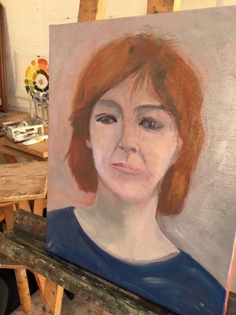 Autoportraits des 2 ateliers huile du vendredi
