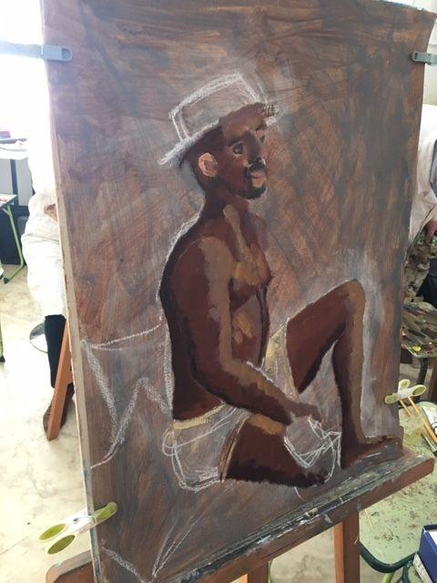Peindre le corps humain à l'atelier huile