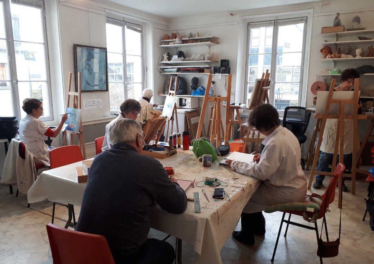 Cours de peinture acrylique des jeudis du côté de Lisbonne