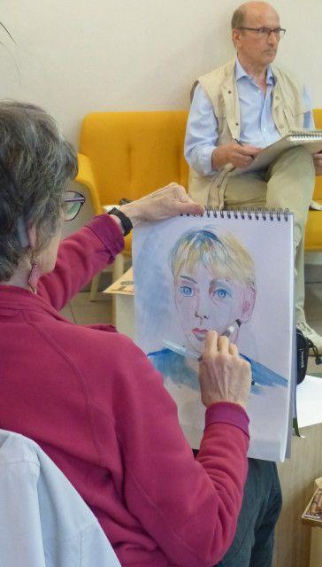 Atelier portrait du 5 juin à la Médiathèque de Palaiseau