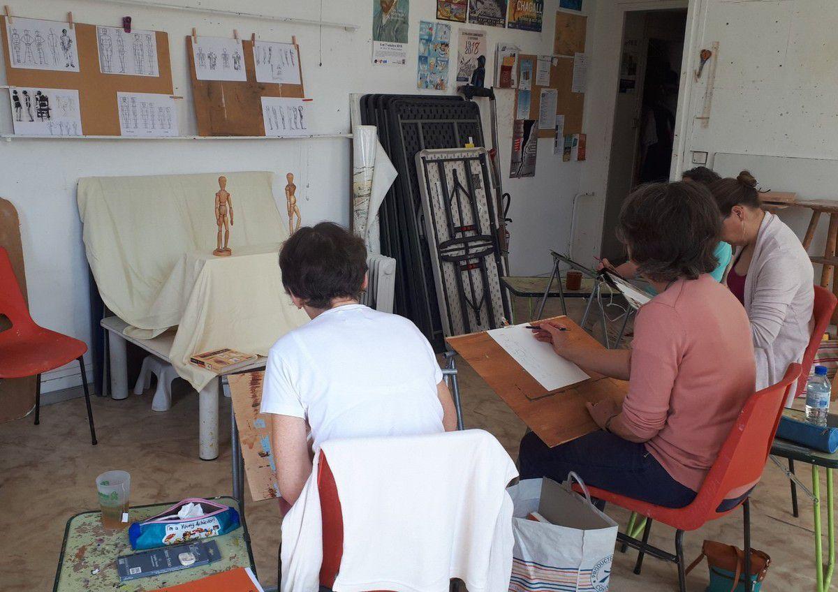 Cours de Bases de dessin début juin (groupe avancé) : initiation au corps humain